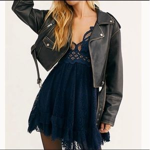 Adella Burnout Lace Mini Dress